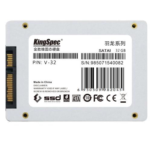 """Dysk twardy SSD Solid State Drive KingSpec SATA II 2.0 2,5 """"32"""""""