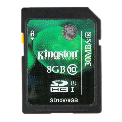 Carte mémoire authentique Kingston Class 10 8GB SDHC 45M / s pour appareil photo portable Vidéo HD