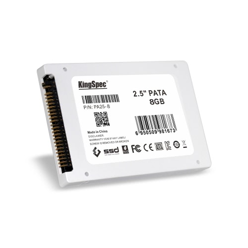 """KingSpec PATA(IDE) 2.5"""" 8GB MLC Digital SSD Solid State Drive for PC C2762-8"""
