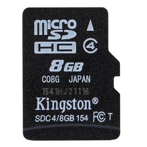 Kingston Class 4 8G 16GB MicroSDHC TF Flash Memory Card 4MB/s Minimal Speed with Adapter