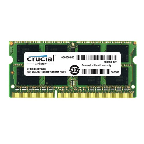 Crucial 8GB DDR3 1600MHz PC3-12800 1.35V CL11 204 Pin SODIMM Notebook Laptop Memory RAM CT102464BF160B