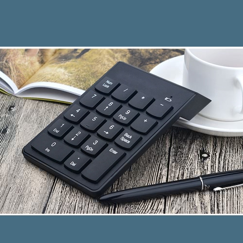BT 3.0 Numeric Keypad Wireless Number Pad 18 Keys Mini Digital Keyboard for iMac/MacBook/MacBook Air/Pro/iPad Laptop Tablet Smartphone thumbnail