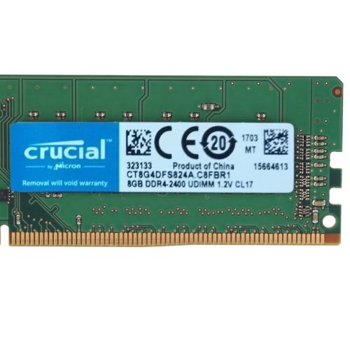 Crucial DDR4 Memory 8GB 2400MHz MT/s CL17 1.2V PC4-19200 UDIMM 288-pin for Desktop CT8G4DFS824A