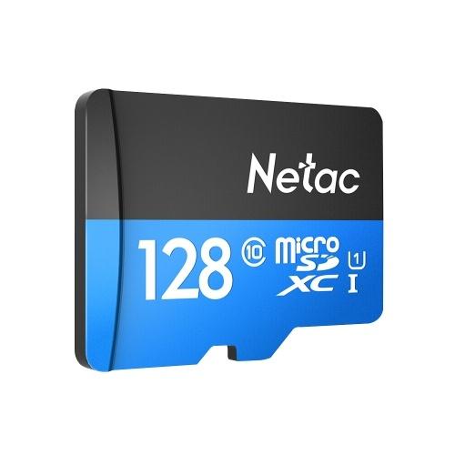 Stockage de données de carte mémoire de Micro SDXC TF de la classe 10 128G de Netac P500 grande vitesse jusqu'à 80MB / s