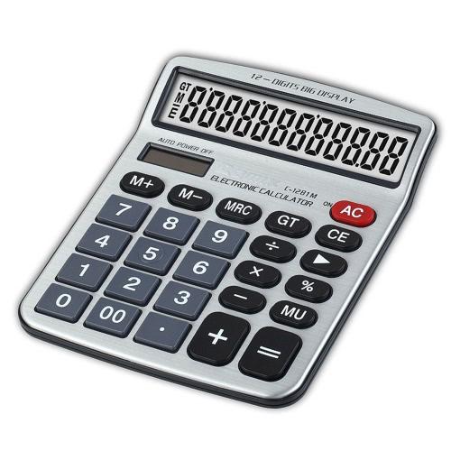 Funkcja Comix C-1281M standardowa pulpitu Kalkulator 12 Cyfry bateria słoneczna i Dual Power do szkoły Office Home