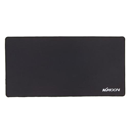 KKmoon 900 * 300 * 3mm Large Size Plain Nero estesa Impermeabile antiscivolo in gomma di velocità del gioco di gioco dei mouse del mouse pad Desk Mat