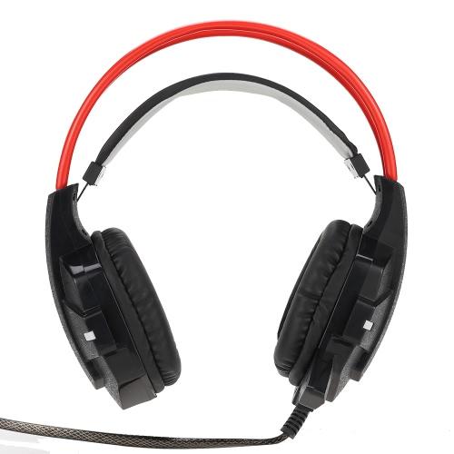 Fantech Professional fio USB 3,5 mm Esport Stereo Gaming Headset Over-orelha auscultadores com redução de ruído Controle de Voz Microfone LED para o computador de secretária Laptop PC