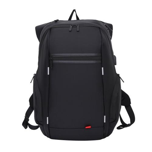 15,6 polegadas mochila de nylon portátil com Porta USB Anti-Theft Water Resistant Trabalho Viagem Bolsa de Ombro Escola Bookbag Caminhadas Mochila Mochila para Notebook Tablet Laptop