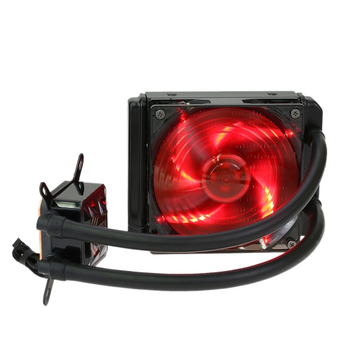 PCCOOLER Liquid Freezer Sistema de refrigeração líquida de água CPU Cooler Fluid Dynamic Bearing 120mm Fan with Red LED Light