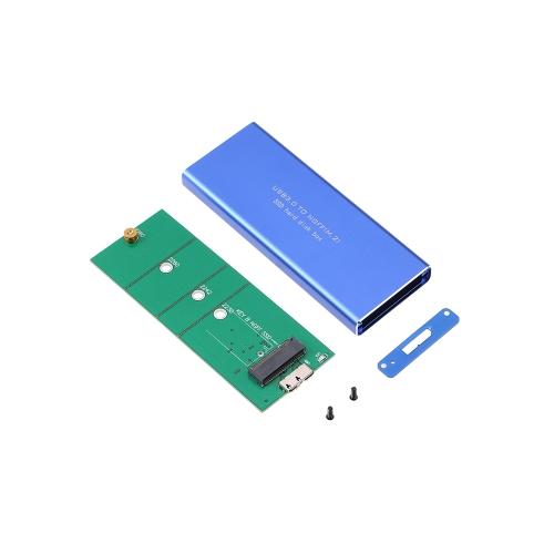 NGFF M.2 para USB 3.0 5 Gbps SSD Invólucro Gabinete de armazenamento com UASP Aplicável a 2230/2242/2260/2280 mm