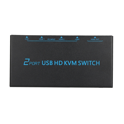 Switch KVM HD USB a 2 porte Supporta risoluzione video 4K