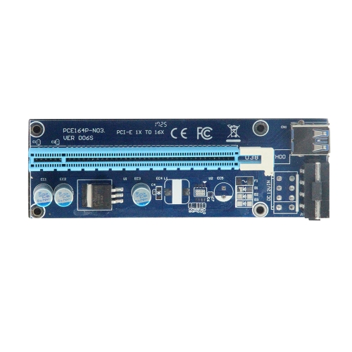 USB3.0 PCI-E 1X à 16X Rallonge U38 Bleu