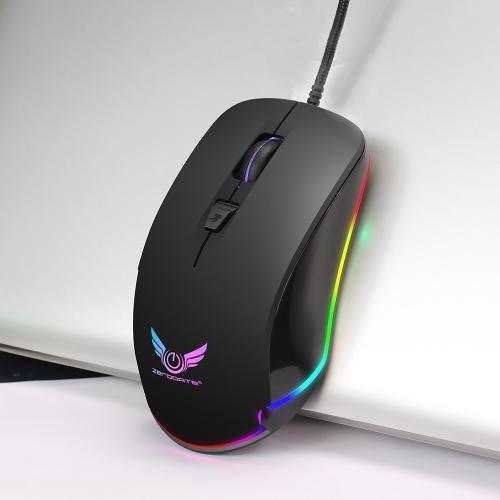 ZERODATE S600 High Performance Gaming Mouse Profesjonalna mechaniczna mysz RGB z regulacją nadgarstka dla Windows XP Win 7 Win 8 iOS