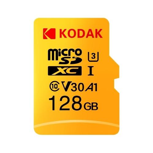 Kodak Micro SD-Karte 128 GB TF-Karte U3 A1 V30 Speicherkarte 100 MB / s Lesegeschwindigkeit 4K-Videoaufzeichnung