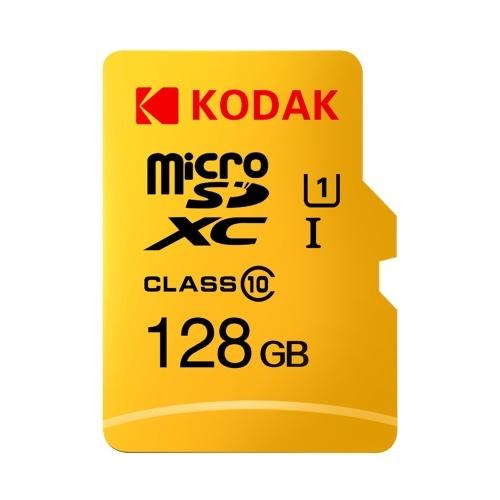 Kodak Cartão Micro SD 128GB TF Card Class10 C10 U1 Cartão De Memória Rápida Velocidade
