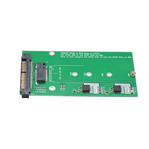 NVME to NGFF M-KEY Adapter Card U.2 to M.2 PCI-E Converter Card PCI-E 4X Interface and SATA Power Supply
