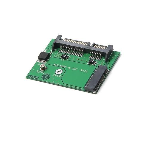 Tarjeta adaptadora M.2 NGFF SSD 2.5in SATA3 NGFF a tamaño medio 2.5 SATA Tarjeta conversora Compatible con 2242 SSD