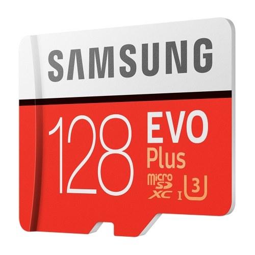 SAMSUNG Speicherkarte 32GB / 64GB / 128GB / 256GB 95MB / S 4K Class10 Micro SD-Karten Rot Plus U3 128GB