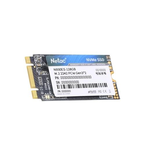 Netac N930ES NVMe M.2 2242 SSD Gen3*2 PCIe 3D MLC/TLC NAND Flash Solid State Drive 128GB