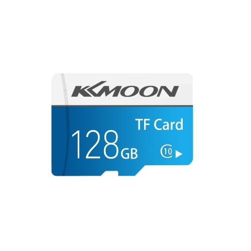 KKmoon Micro SD-Karte TF-Flash-Speicherkarte Datenspeicher 128 GB, Class 10 Fast Speed (Blau)
