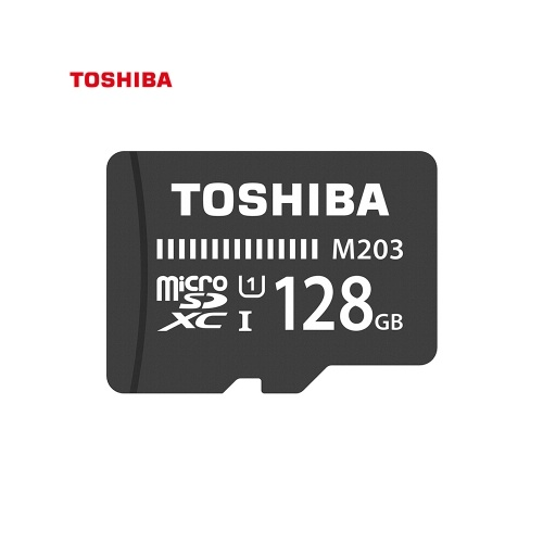 TOSHIBA Micro SD Card 128G TF Card U1 C10 M203 100MB/s Shockproof High Speed for Phone/Go-pro/Camera/Monitor