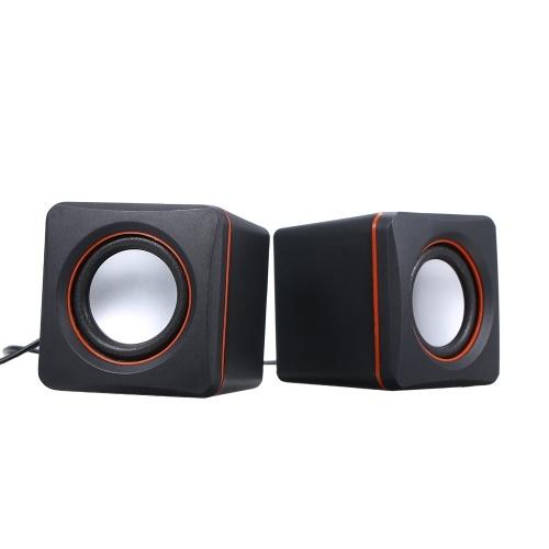 Musik-Lautsprecher Desktop-Lautsprecher Mini-Musik-Lautsprecher mit 3,5-mm-Klinke für Laptop / MP3 / Smartphones