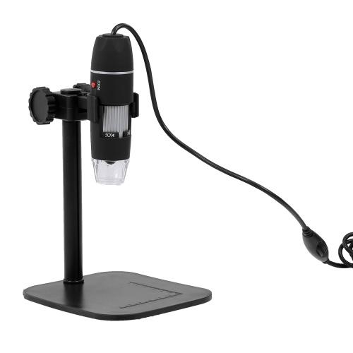 Microscopio digitale da 50X a 500X Zoom HD Microscopio Lente d'ingrandimento USB 8 luci a LED