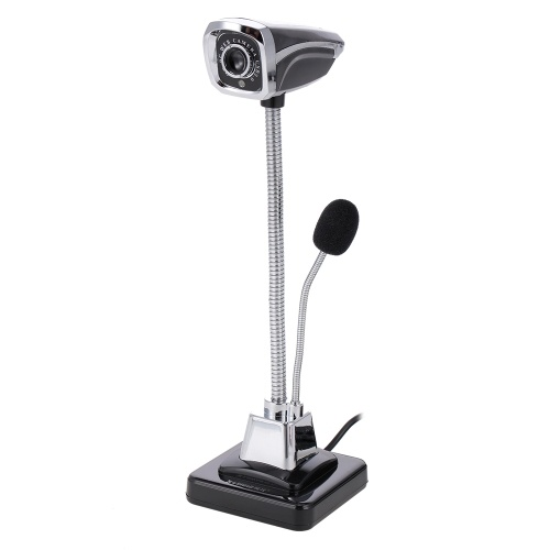 Web Camera USB PC Webcam with Microphone for Live Streaming Online Chat Video   Camera Support Windows Flexible Gooseneck LED Light