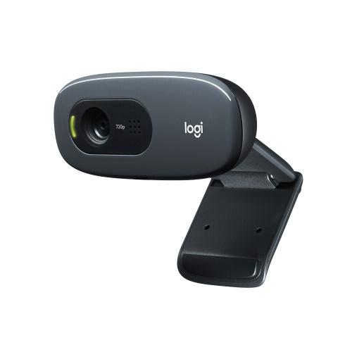 Logitech C270 HD 720p Breitbild-Video-Webcam-Computer Laptop-PC-Kamera für Videoanrufe und -aufzeichnungen