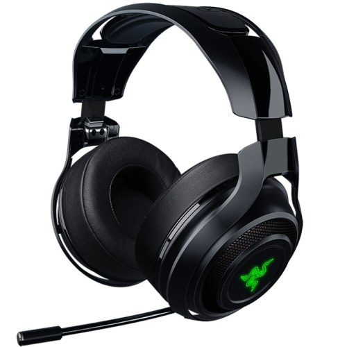 Razer ManO'War Wireless 7.1 Surround Sound Gaming Headset 2.4 GHz Wireless Technology Quick Action Controls Unidirectional Retractable Mic Chroma Light Headphone Earphone for PC, Mac, PS4