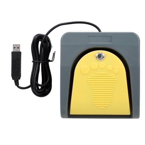 PCsensor FS2016USB2A USB-Fußschalter-Bedientaste Kundenspezifisches Computer-Tastatur-Aktionspedal für Computer mit medizinischen Geräten Büro
