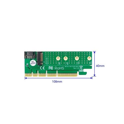 M.2 to SATA PCI-E KEY B SSD Adapter Converter Card PCI Express Slot SATA Cable Kit