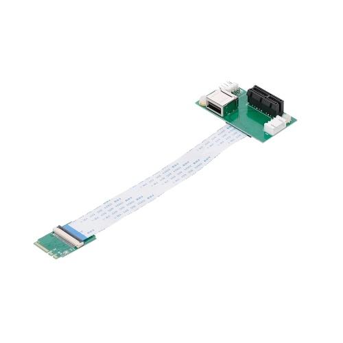 Mini placa adaptadora de cabo de extensão PCI-E para PCI-E com slot vertical