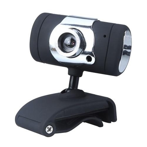 Videocamera Web ad alta definizione USB 2.0 480P con base a clip per microfono senza unità per desktop portatile