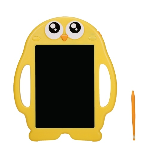 8.5 Inch LCD Writing Tablets Digital Electronic Drawing Writing Board Handwriting Paper Drawing Tablet Doodle Pad with 6pcs Learning Cards Penguin Shape