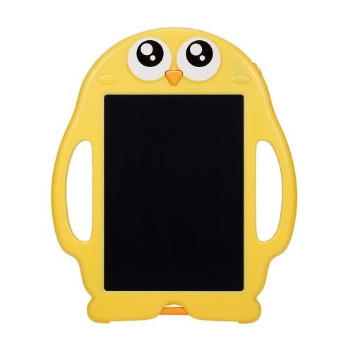 8.5 Polegada LCD Tablets de Escrita Eletrônica Digital Desenho Placa de Escrita Papel de Escrita Desenho Tablet Doodle Pad com 6 pcs Cartões de Aprendizagem Pinguim Forma