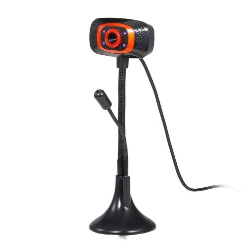 Webcam USB senza drive Webcam USB con microfono Lampada spia per computer desktop Laptop Plug and Play