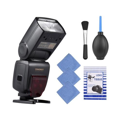 YONGNUO YN685 i-TTL HSS 1 / 8000s GN60 2.4G Flash inalámbrico para cámaras réflex digitales Nikon con cepillo para lentes + 3 piezas de limpieza + soplador de aire + tejido de limpieza óptico