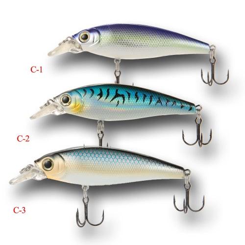 "3pcs 15cm / 5.9 ""3D плавающие ABS Minnow Fishing Lures Приманки крючки"