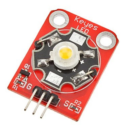 3W DIY 180 ~ 210lm 6000 ~ 7000k LED alta potência módulo para Arduino (funciona com placas Arduino oficial)