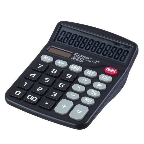 Comix C-330 Standardowy Funkcja pulpitu Kalkulator 12 Cyfry bateria słoneczna i Dual Power do szkoły Office Home