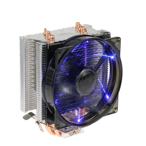 PCCOOLER 4 Heatpipes Radiator Quiet 4pin CPU Cooler Heatsink Вентилятор охлаждения с 120-миллиметровым вентилятором для настольного компьютера
