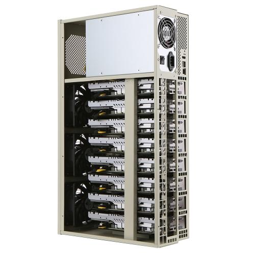 8 AMD RX580 Extensible 215Mhash / s ETH Mining Machine Moinho de Mineração de Moedas
