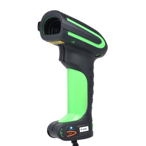 iMARCONE Ręczny czytnik kodów kreskowych 2D USB Profesjonalny skaner kodów QR IP68 Wodoodporny czarny z zielonym
