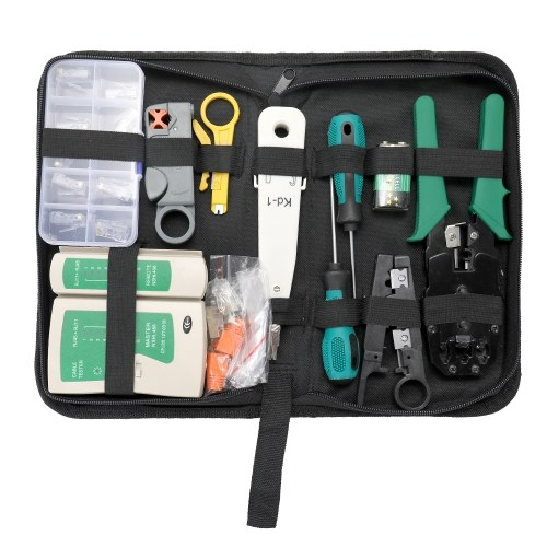 Multifuctional Portable Ethernet Network Hardware Bag Tool Network LAN Cable Crimper Pliers Tools Kit Network Repairing Tool Set
