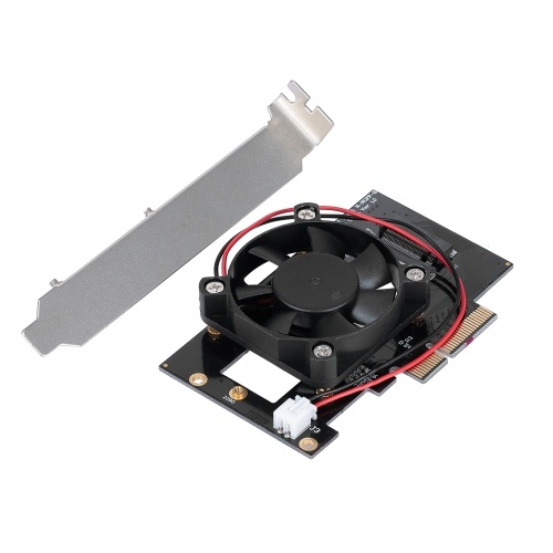 M.2 NVME NGFF to PCI-E X4 Expansion Card Adapter Converter Card with Fan for Desktop PC