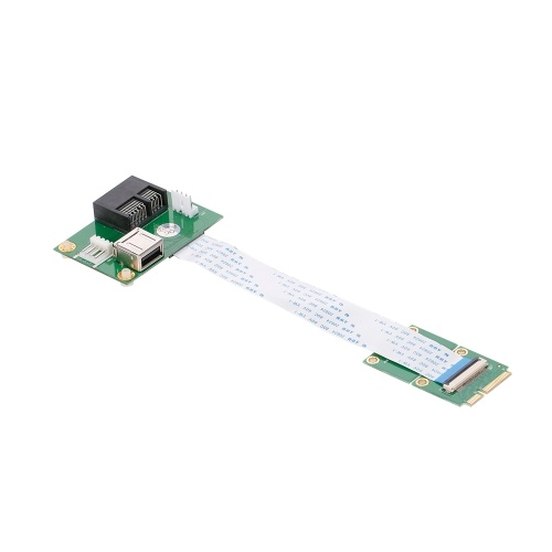 Карта адаптера Mini-PCI-E к удлинителю с поддержкой горизонтального слота PCI-E 1X / 4X / 8X / 16X