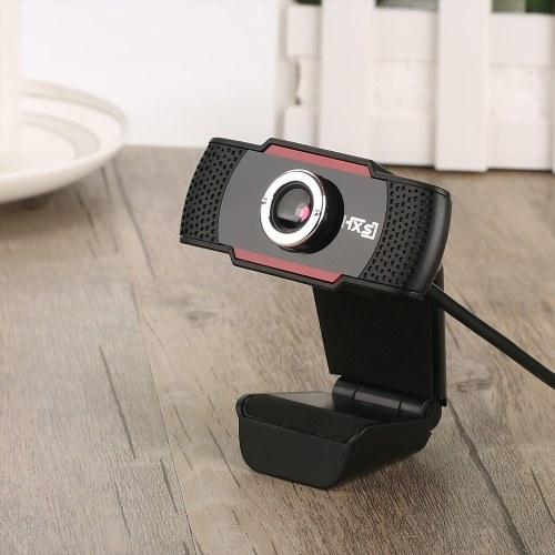 HXSJ S20 Videocamera per computer con messa a fuoco manuale ad alta definizione Webcam Microfono fonoassorbente incorporato per computer desktop