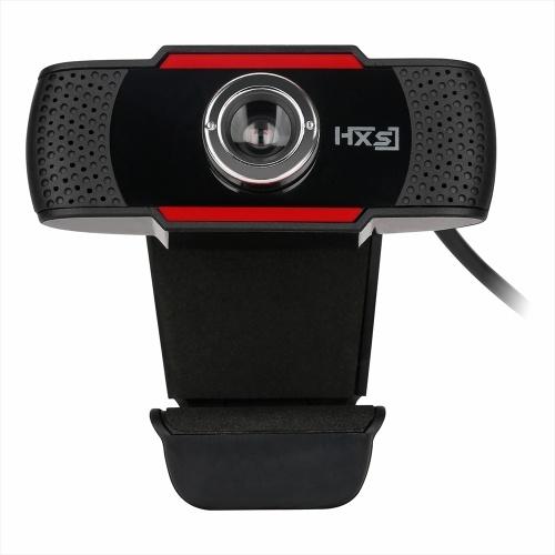 HXSJ S20 High-definition Webcam Manual Focus Computer Camera Built-in Sound Absorbing Microphone for Desktop Computer Laptop