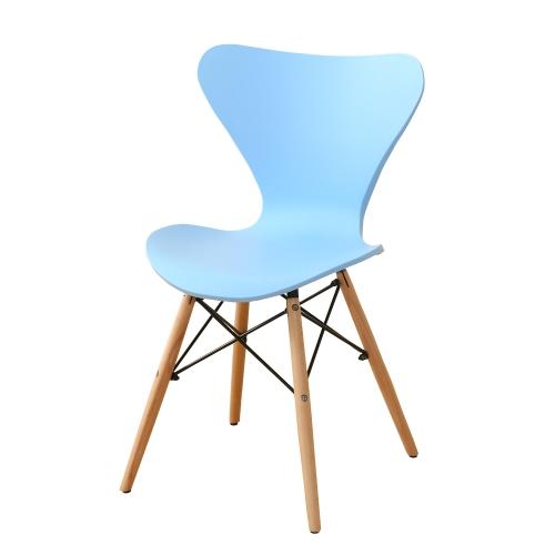 Chaise de table style scandinave pieds bois blanc ou bleu for Table chaise bois